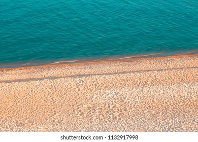 summer background with blue sea and sandy beach