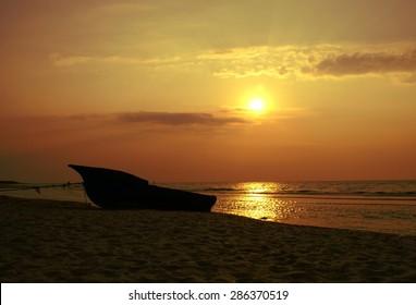 Summer background. Corbu Beach, tranquil and virgin beach at the Black Sea, Romania.