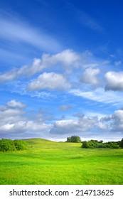 Summer background, Green landscape