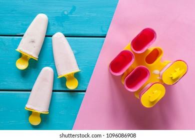 Summer background with ice cream