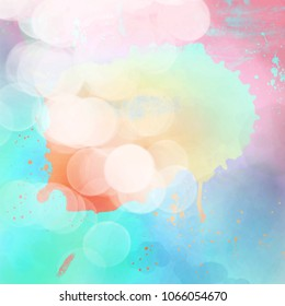 summer background with paint splashes