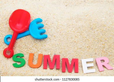 summer background in the sand of the beach, summer holidays