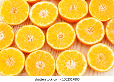 Summer background. Slices of citrus. Creative summer background. Top view.
