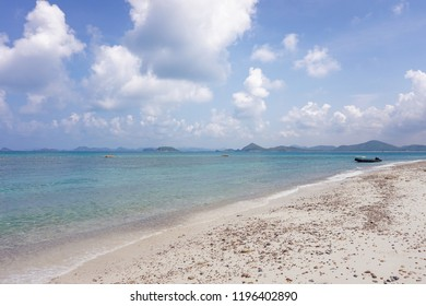 Summer background view with sea and blue sky