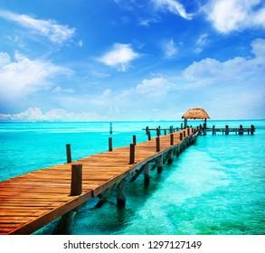 Summer Beach Cancun, Mexico