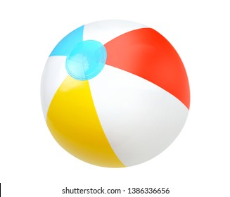 Summer beach  colorful water ball isolated.Single object.