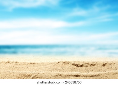 summer beach and sea