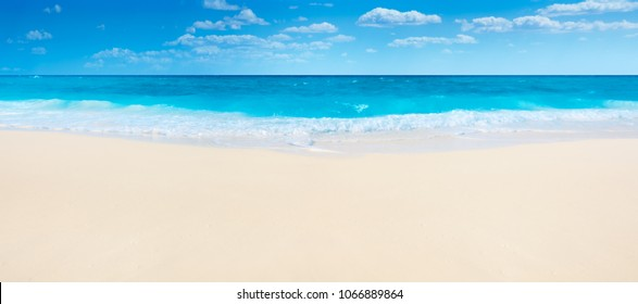 Summer beach and sea,panorama.