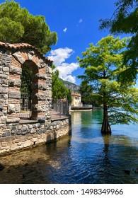 Summer in beautiful Riva di Solto, lake Iseo, Italy