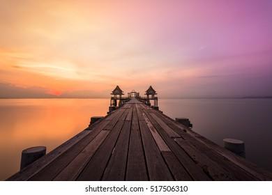 Summer Beautiful sunset , Holiday sunset in pattaya,Nature travel background