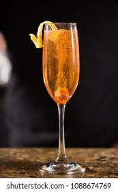Summer Bellini cocktail