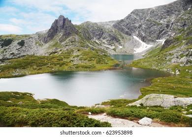 Summer Bliznaka Lake, Seven Rila Lakes Park, Bulgaria