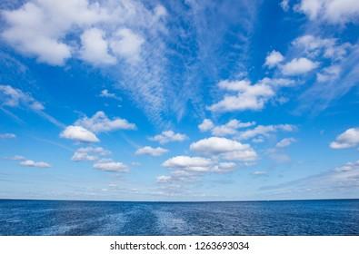 summer blue seascape