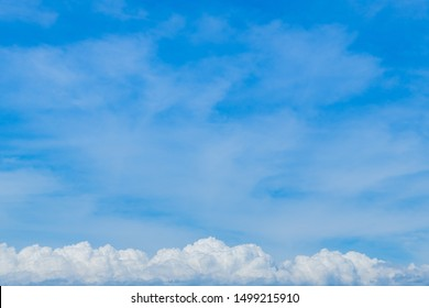Summer blue sky and clouds