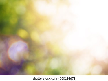 Summer blurred background with bright beautiful colorful bokeh