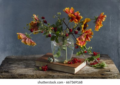 Summer bouquet of different flowers