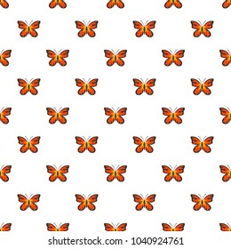Summer butterfly pattern seamless in flat style for any design