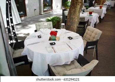 Summer cafe on the boulevard