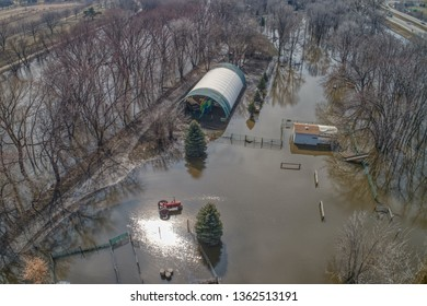 Summer Camp in Sioux Falls, South Dakota damaged by the 2019 Spring Flooding