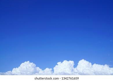 Summer clouds (cumulant clouds)