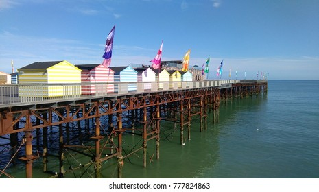 Summer colours on Hastings pier, UK