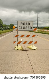 Summer is construction season all over the United States.  Many roads, like this one, are closed for some number of miles.
