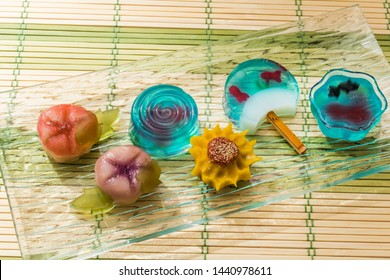 Summer cool Japanese style jelly