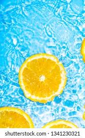 Summer cool water orange slices