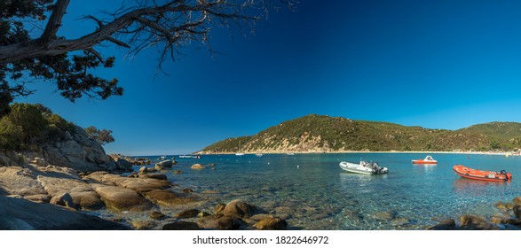 Summer day at Cala Pira,  a beautiful bay in the south-east of Sardegna
