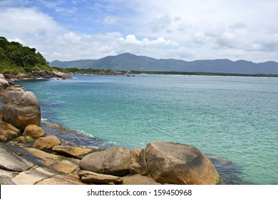 Summer day in florianopolis beach in Brazil.