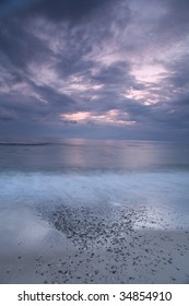 A summer day on the beach in denmark, shot at lower shutter speed with filter to get the sky color