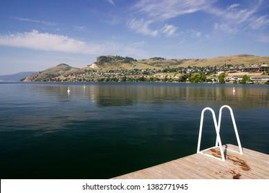 A summer day in Rotary Pier, Kalamalka Lake, Vernon BC.