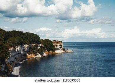 a summer day view at Stevns Klint bay, Denmark