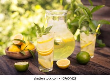 Summer drink - cold lemonade
