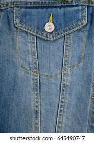 Summer embroidery,floral Jeans jacket, Pocket, detail