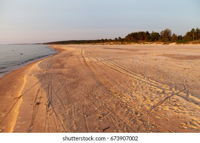 Summer evening by Baltic sea.
