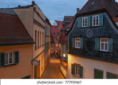 Summer evening in the historic center of Bamberg. Germany. Bavaria.