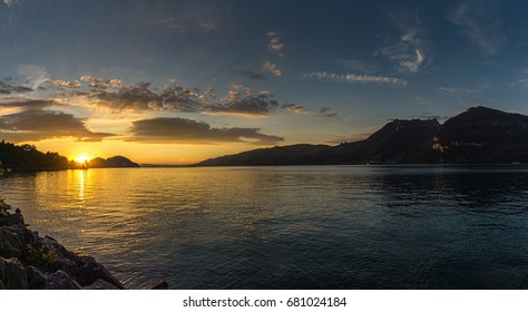 summer evening on Lake Thun