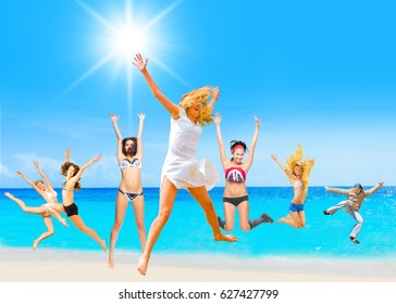Summer Exercise Active Girls