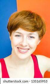 Summer fashion Girl , redhead