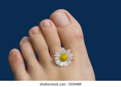 Summer feet with a flower