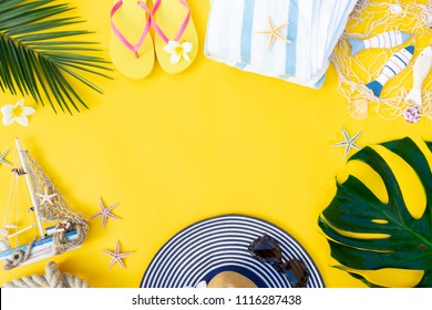 Summer flat lay scenery