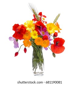 Summer flower bouquet,isolated