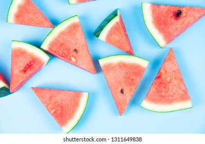 Summer fruit, watermelon with pattern background
