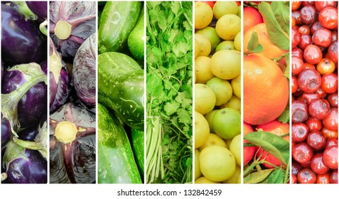 Summer Fruits and Vegetable Rainbow