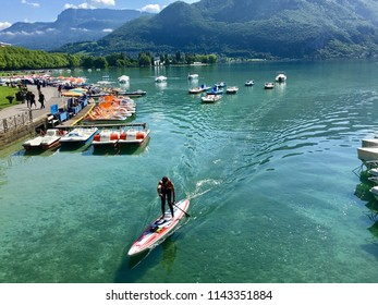 Summer fun on lake annecy in France