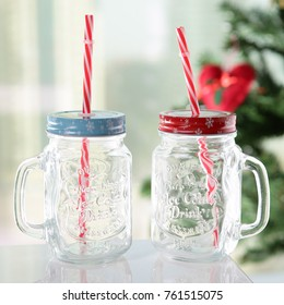 Summer Glass Sipper with Straw