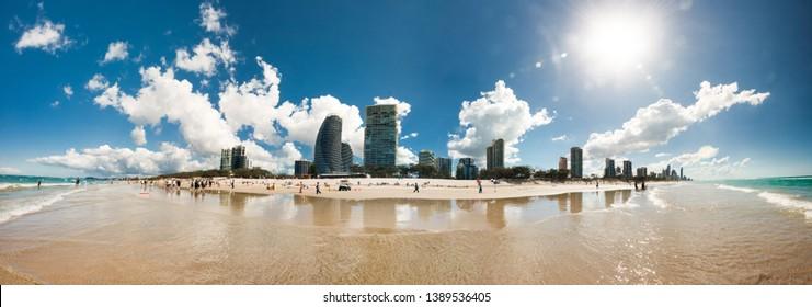 Summer in the Gold Coast, Queensland, Australia. Best summer destination on the southern hemisphere