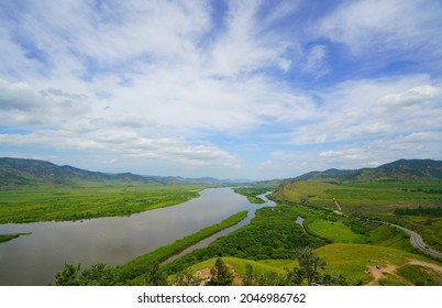 Summer hike in the most beautiful natural places of Buryatia, stop by the river