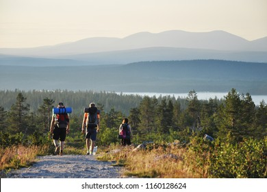Summer hiking in Lapland with beautiful scenic views